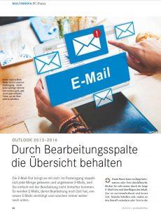 Outlook Posteingang Spalte zum beschreiben